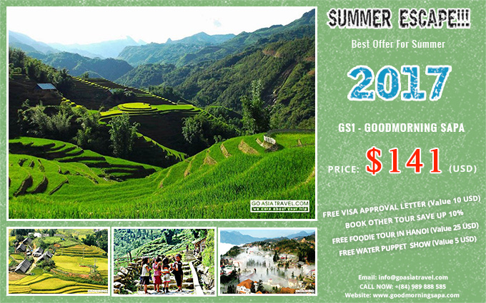 Best Deals for Summer 2017 with Sapa 2 Days 1 Night by bus and stay in hotel tour