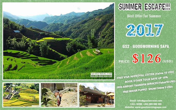 Best Deals for Summer 2017 with Sapa 2 Days 1 Night by bus and stay in HOMESTAY tour