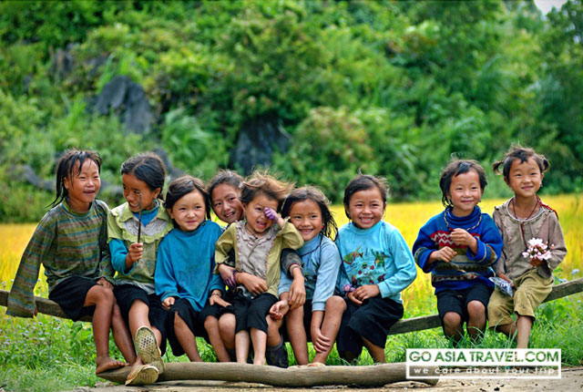 Children in Ban Ho village